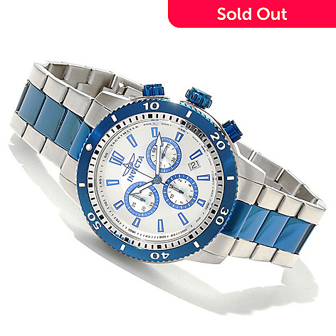 618-025 - Invicta 45mm Specialty Classic Quartz Chronograph Stainless Steel Bracelet Watch