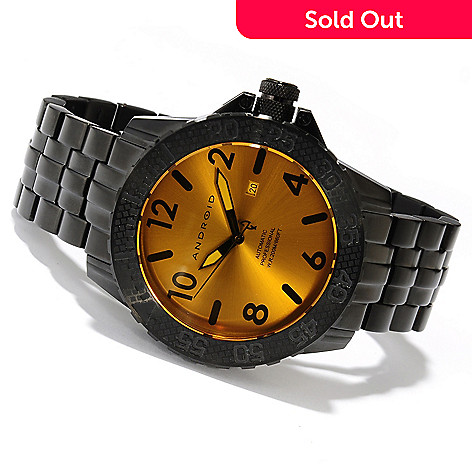 618-031 - Android Men's Trans 48 ''Night Vision'' Limited Edition Automatic Stainless Steel Bracelet Watch