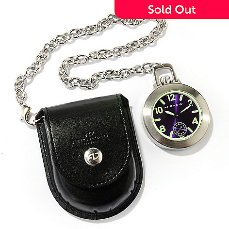 618-032 - Android Enforcer Mechanical 316L Stainless Steel Pocket Watch