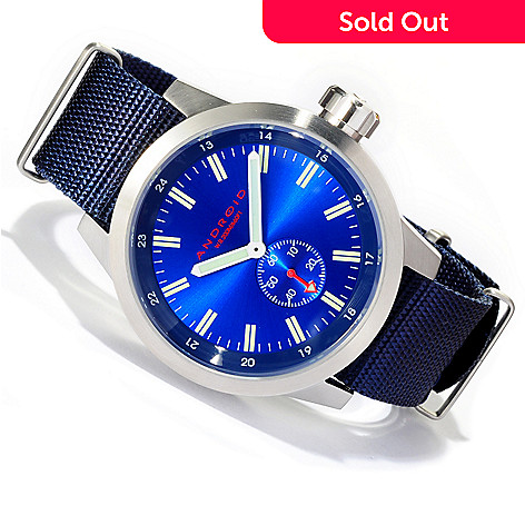 618-033 - Android Men's Antiforce 4 Quartz 316L Stainless Steel Case Nylon Strap Watch