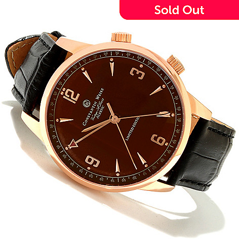 618-302 - Constantin Weisz Men's Vintage Legacy Limited Edition Swiss Mechanical Strap Watch w/ 10-Slot Case