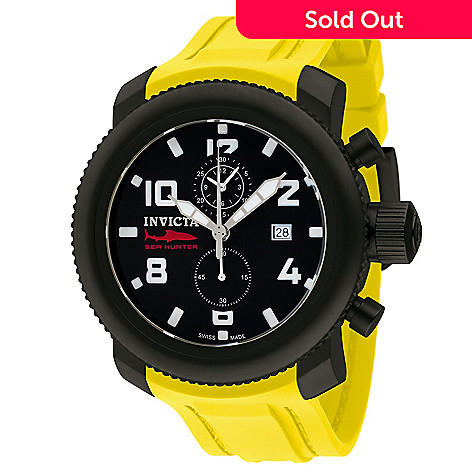 618-308 - Invicta Men's Sea Hunter Diver Swiss Made Quartz Chronograph Polyurethane Strap Watch