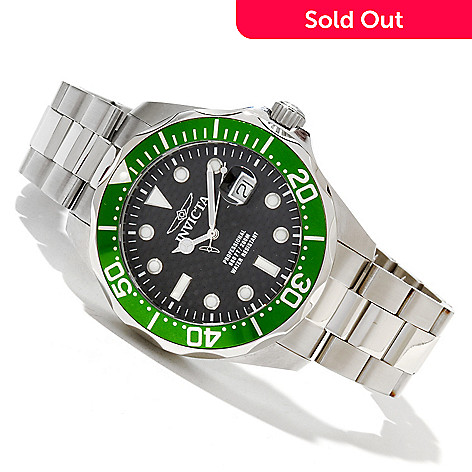 618-310 - Invicta Men's Grand Diver Quartz Stainless Steel Bracelet Watch w/ 3-Slot Dive Case