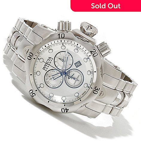 618-339 - Invicta Reserve Mid-Size Venom Swiss Made Quartz Chronograph Stainless Steel Bracelet Watch