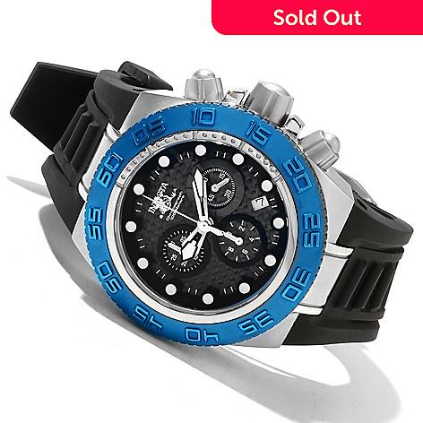 618-350 - Invicta Mid-Size Subaqua Sport Quartz Chronograph Carbon Fiber Dial Polyurethane Strap Watch