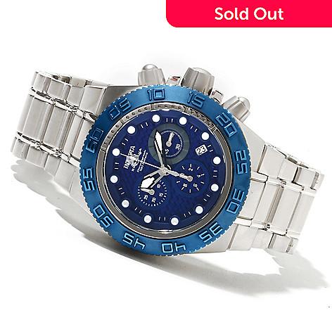 618-355 - Invicta Mid-size Subaqua Sport Quartz Chronograph Carbon Fiber Dial Stainless Steel Bracelet Watch
