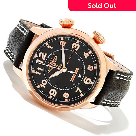 618-377 - Moscow Classic Men's Aeronavigator Limited Edition Mechanical Leather Strap Watch