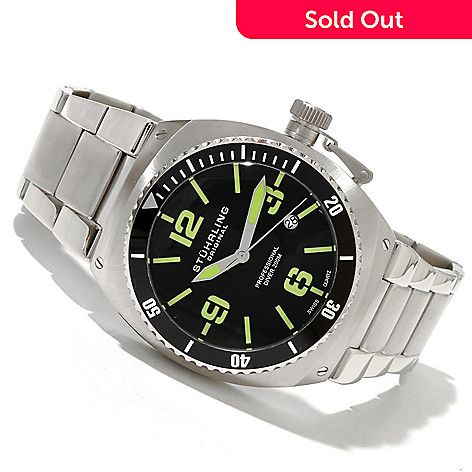 618-381 - Stührling Original Men's Regatta DSV Quartz Stainless Steel Bracelet Watch