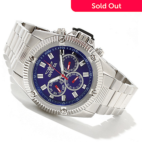 618-400 - Invicta Men's Specialty Sport Quartz GMT Stainless Steel Bracelet Watch w/ 3-Slot Dive Case