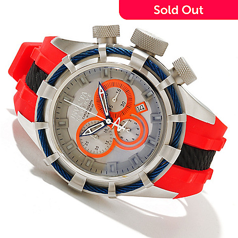 618-404 - Invicta Reserve Men's Bolt ''Puppy Edition'' Swiss Quartz Chronograph Silicone Strap Watch