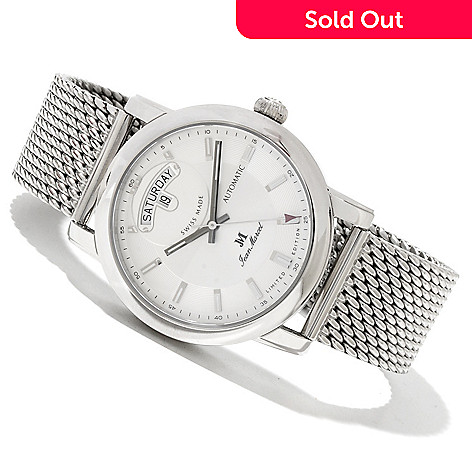 618-431 - Jean Marcel Men's Clarus Limited Edition Swiss Made Automatic Stainless Steel Bracelet Watch