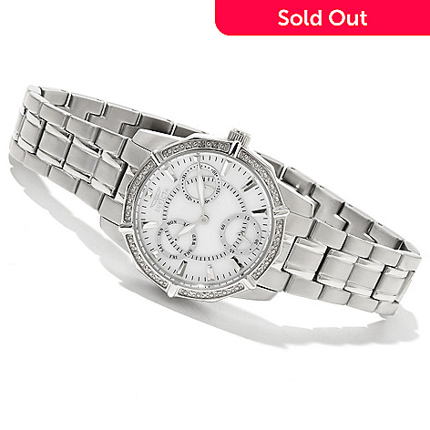 618-437 - Invicta Women's Classique Wildflower Quartz Diamond Accented Bracelet Watch w/ 3-Slot Dive Case