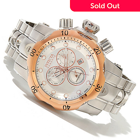 618-457 - Invicta Reserve Mid-Size Venom Swiss Made Quartz Chronograph Stainless Steel Bracelet Watch