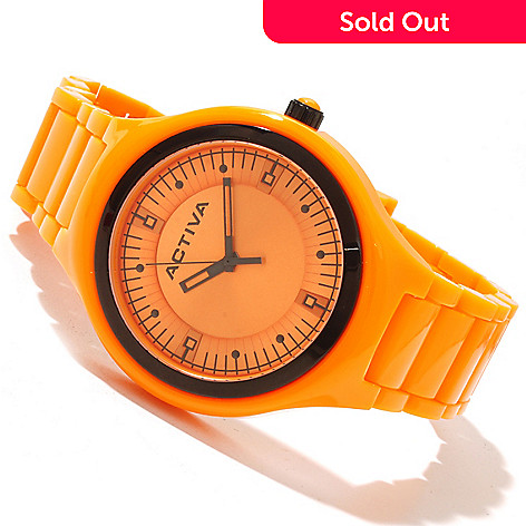 618-486 - Activa 45mm Classic Sport Quartz Sunray Dial Plastic Bracelet Watch
