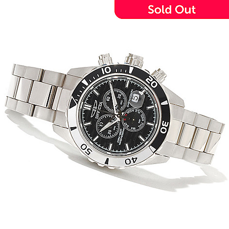 618-493 - Invicta Men's Pro Diver Elite Quartz Chronograph Stainless Steel Bracelet Watch
