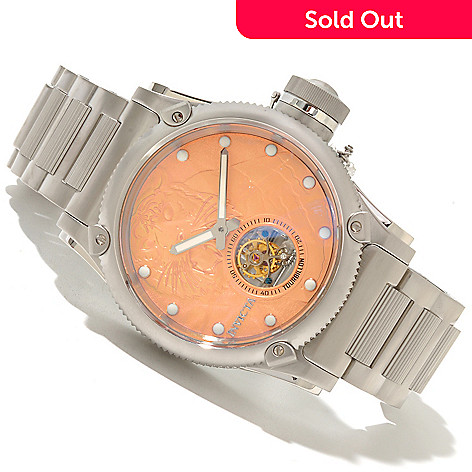 618-502 - Invicta Men's Russian Diver Tiger Limited Edition Mechanical Tourbillon Bracelet Watch