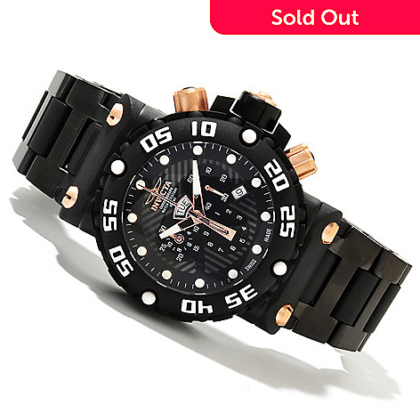 618-507 - Invicta Men's Subaqua Nitro Swiss Quartz Chronograph Bracelet Watch w/ 8-Slot Dive Case