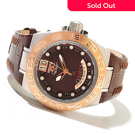 618-518 - Invicta Mid-Size Subaqua Sport Elegant Swiss Made Quartz Leather Strap Watch