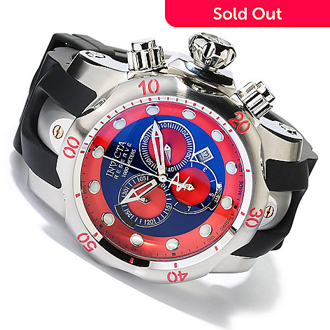 618-519 - Invicta Reserve Men's Venom ''Puppy Edition'' Swiss Quartz Chronograph Polyurethane Strap Watch
