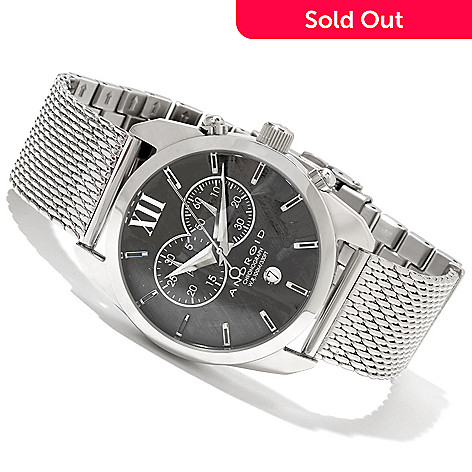 618-521 - Android Men's Impetus 4 Quartz Chronograph Stainless Steel Bracelet Watch