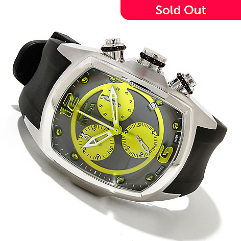 618-525 - Invicta Men's Lupah Revolution Swiss Made Quartz Strap Watch w/ 3-Slot Dive Case