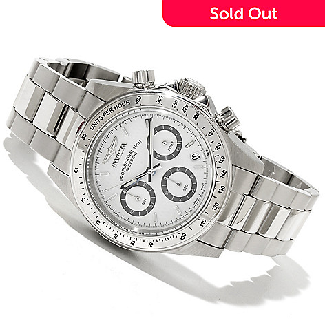 618-529 - Invicta Men's Speedway Quartz Chronograph Stainless Steel Bracelet Watch w/ 8-Slot Dive Case