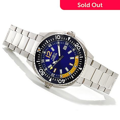 618-533 - Invicta Men's Specialty Flight Collection Quartz Stainless Steel Bracelet Watch w/ 3-Slot Dive Case