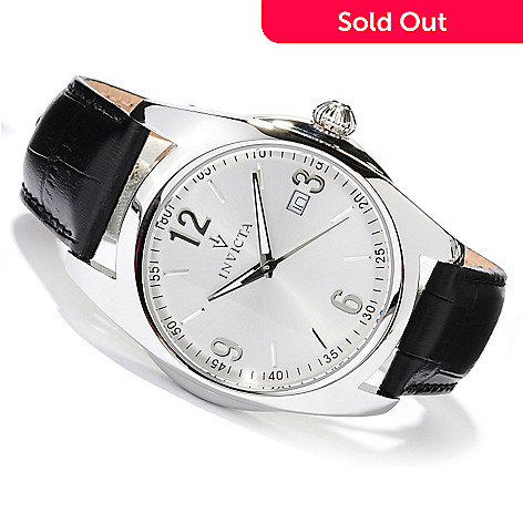 618-536 - Invicta Men's Vintage Collection Quartz Stainless Steel Leather Strap Watch w/ Collector's Box