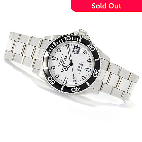 618-541 - Invicta Men's Pro Diver Automatic Stainless Steel Bracelet Watch w/ 8-Slot Dive Case