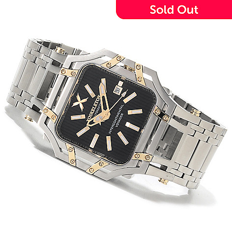 618-601 - XO Skeleton Men's Intercontinental Voyager Automatic Limited Edition Stainless Steel Bracelet Watch