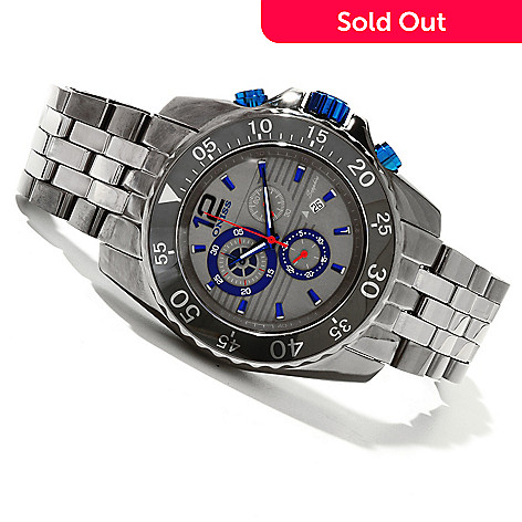 618-610 - Oniss Men's Quartz Chronograph Ceramic Bracelet Watch