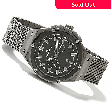 618-651 - Constantin Weisz Men's Automatic Stainless Steel Mesh Bracelet Watch