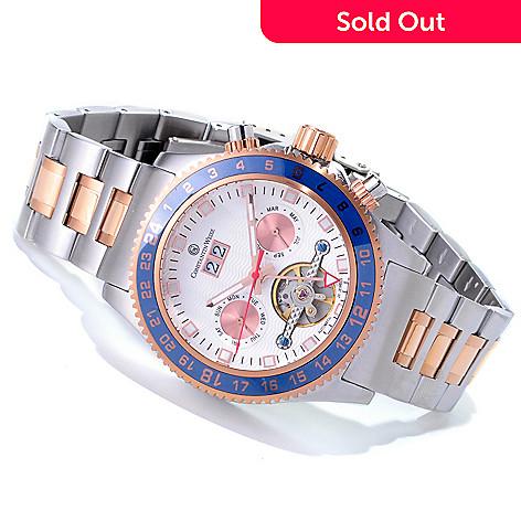 618-652 - Constantin Weisz Automatic Open Heart Stainless Steel Bracelet Watch