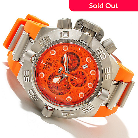 618-657 - Invicta Men's Subaqua Noma IV Swiss Chronograph Polyurethane Strap Watch w/ 8-Slot Dive Case