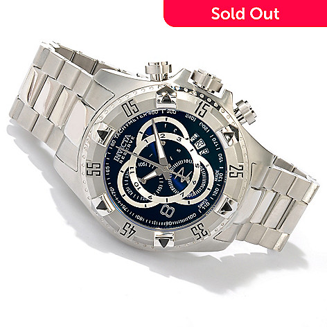 618-658 - Invicta Reserve Men's Excursion Swiss Quartz Chronograph Bracelet Watch w/ 3-Slot Dive Case