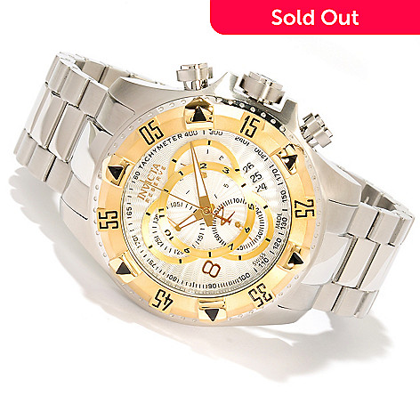 618-775 - Invicta Reserve 52mm Excursion Swiss Made Quartz Chronograph Stainless Steel Bracelet Watch