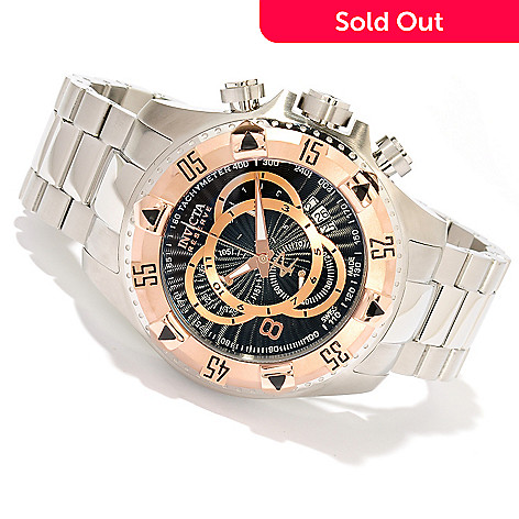 618-776 - Invicta Reserve Men's Excursion Swiss Made Quartz Chronograph Stainless Steel Bracelet Watch