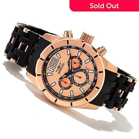 618-778 - Invicta Men's Sea Spider Quartz Chronograph Polyurethane & Stainless Steel Bracelet Watch