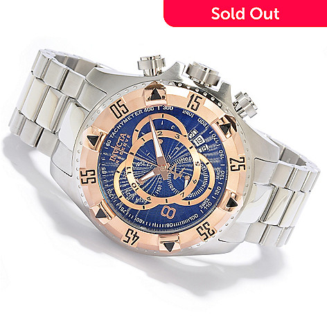 618-780 - Invicta Reserve Men's Excursion Swiss Quartz Chronograph Stainless Steel Bracelet Watch
