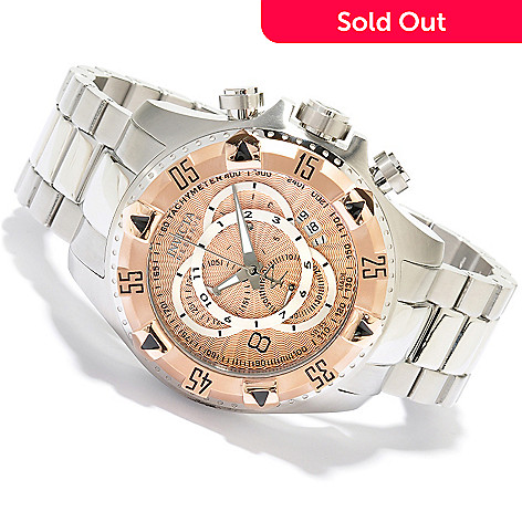 618-781 - Invicta Reserve 52mm Excursion Swiss Made Quartz Chronograph Stainless Steel Bracelet Watch