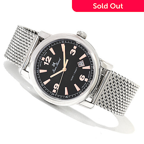 618-790 - Jean Marcel Men's Clarus Limited Edition Swiss Made Automatic Mesh Bracelet Watch
