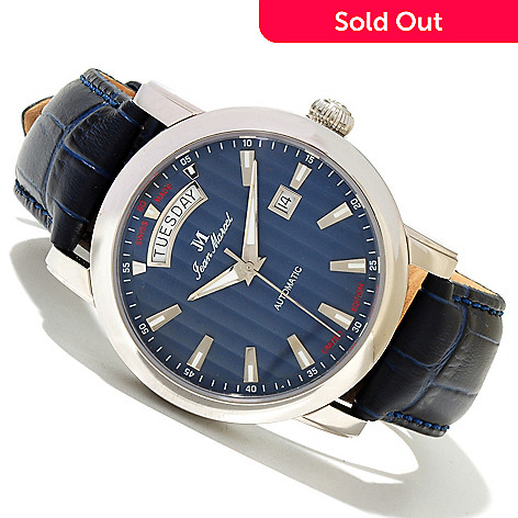 618-792 - Jean Marcel Men's Clarus Limited Edition Swiss Made Automatic Leather Strap Watch