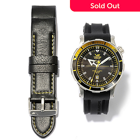 618-793 - Vostok-Europe Men's Anchar Limited Edition Automatic Stainless Steel Strap Watch