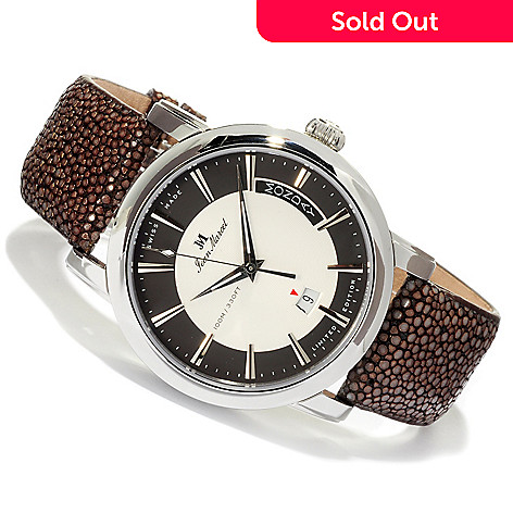618-795 - Jean Marcel Men's Clarus Limited Edition Swiss Made Automatic Stingray Strap Watch