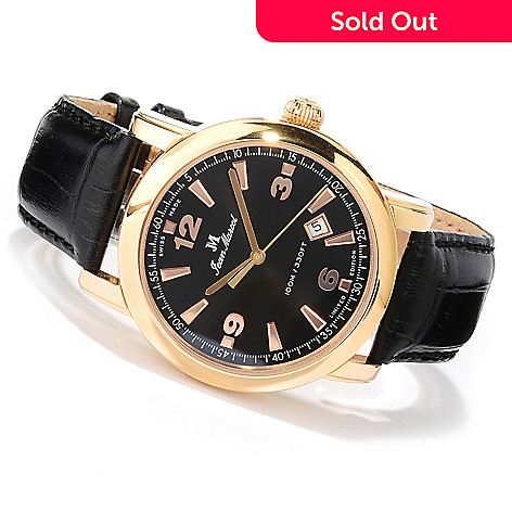 618-796 - Jean Marcel Men's Clarus Limited Edition Swiss Made Automatic Leather Strap Watch