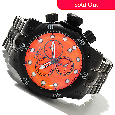618-797 - Invicta Reserve Men's Venom Swiss Made Quartz Chronograph Stainless Steel Bracelet Watch