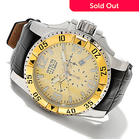 618-801 - Invicta Reserve Men's Excursion Elegant Swiss Quartz Chronograph Leather Strap Watch
