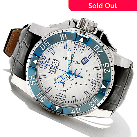 618-802 - Invicta Reserve Men's Excursion Elegant Swiss Quartz Chronograph Leather Strap Watch