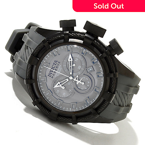 618-817 - Invicta Reserve Men's Bolt Sport Swiss Quartz Chronograph Stainless Steel Case Silicone Strap Watch