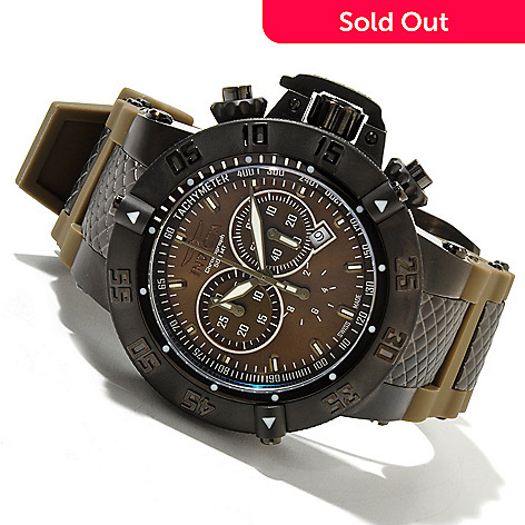 618-819 - Invicta 50mm Subaqua Noma III Swiss Quartz Chronograph Stainless Steel Case Silicone Strap Watch